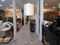 WORLDS AWAY ANSEL SILVER LEAF BAMBOO FLOOR LAMP