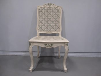 Louis style, painted, cane chair,