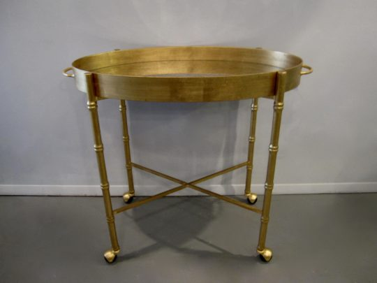 Worlds Away Bar Cart, Brighton Gold Leaf Bar Cart