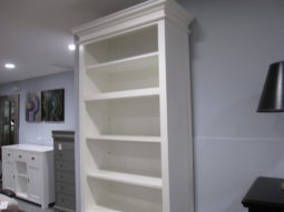 White Bookcase, 2 Piece Unit, Cabinet, Tower, Traditional Style