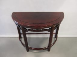 Rosewood, Asian Demilune, High Quality, Pair Demilunes