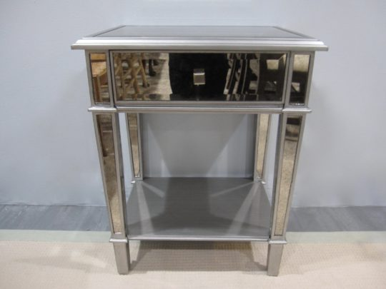 Mirrored Nightstands, Lower Shelf