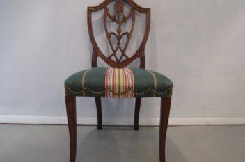 Hickory Chair, Spade Feet Shield Back Mahogany Chairs