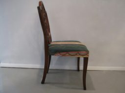 Hickory Chair, Spade Feet Shield Back Mahogany Chairs