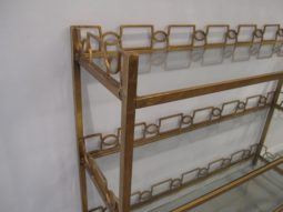 Uttermost NICOLINE CONSOLE, Glass and Gold Leaf Shelves