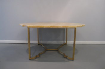 Chelsea House Rabern Cocktail Table, marble top, gilded iron base