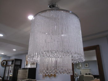 Luxury Chandelier, Bead Crystals, Chrome, Nickel, lighting