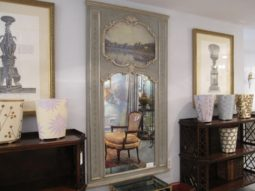 """Trumeau Mirror, Reproduction, Antique Mirror, Impactful Dimensions: 38""""w x 69"""", Purchased From Washington Design Center, Retail $5,000"""