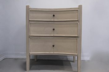 Nightstand, Side table, Gabby Janice Aged Ivory Wood Chest
