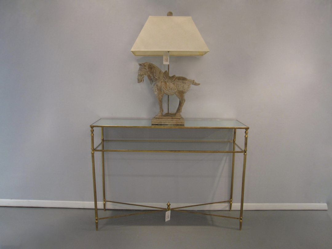 Mirror Top Console Table Eisenhower Consignment