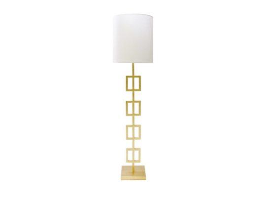 Worlds Away Quinn Gold Floor Lamp