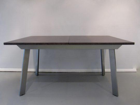 dining table, metal legs, modern