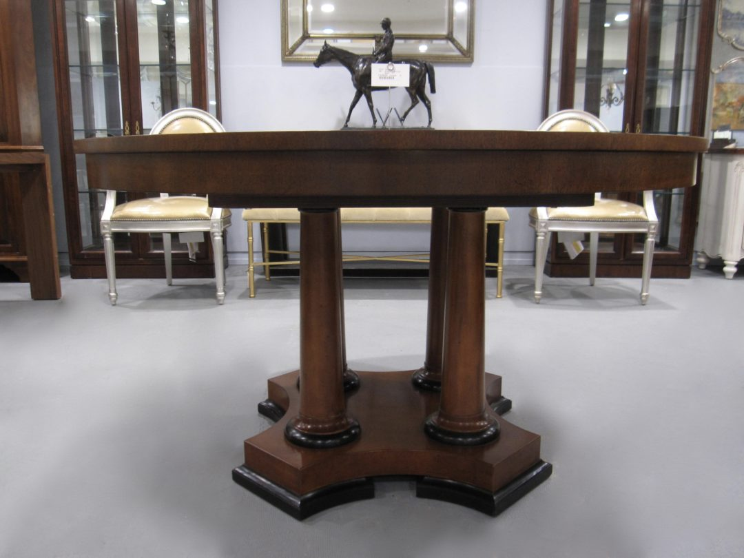 baker palladian dining table eisenhower consignment baker palladian dining table