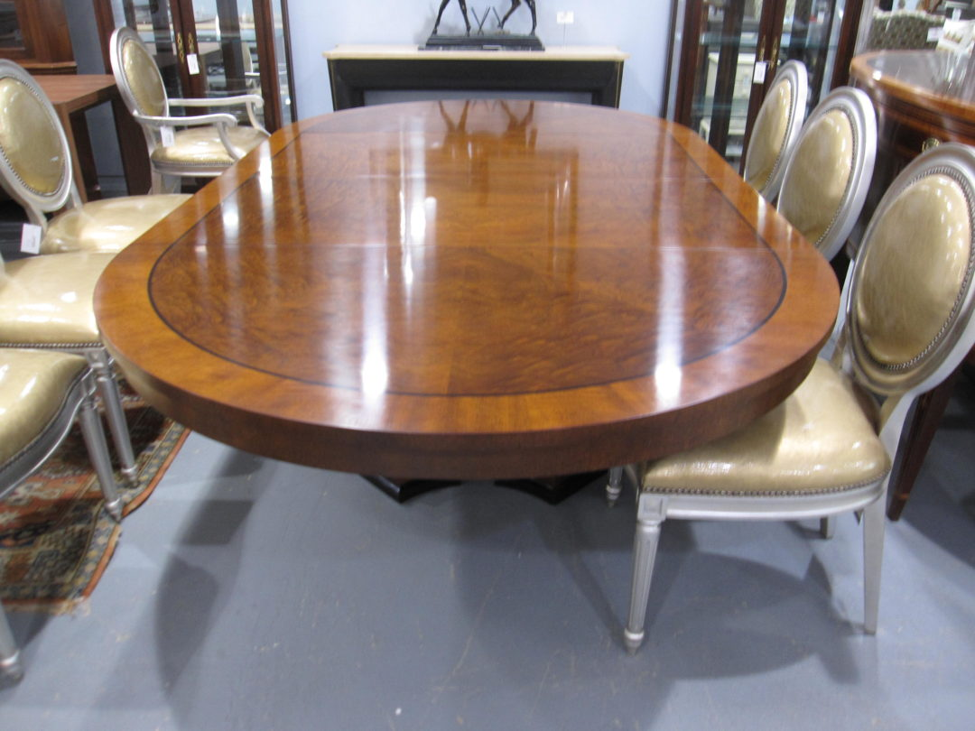 Baker palladian dining table eisenhower consignment