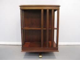 Revolving Edwardian Bookcase, Satinwood