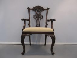Maitland Smith Chippendale Arm Chairs