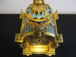 French Champleve Enamel Clock