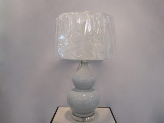 Double Gourd Table Lamp, Crystal Base