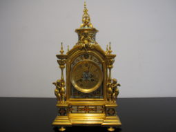 French Champleve Enamel Clock