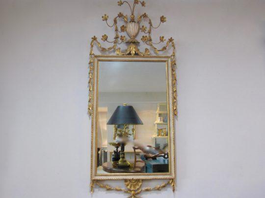 Adam Period Mirror, Gold Gilt
