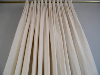 Linen Drapes, Fan Pleats