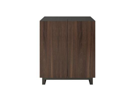 """Modern Bar Cabinet, Glass Top, 43"""" Tall"""