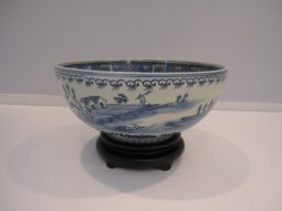 Asian Chinoiserie Bowl, Blue & White