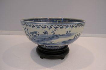 Asian Chinoiserie Bowl, Blue & White
